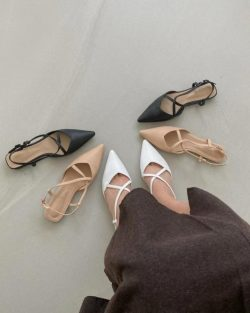 Pointy X Mules