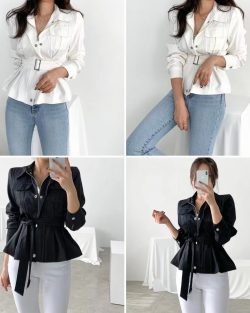 Slim Cut 2 Way Jacket w/belt